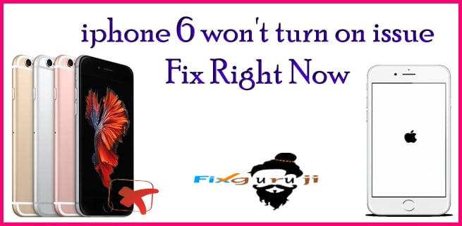 iphone 6 won't turn on