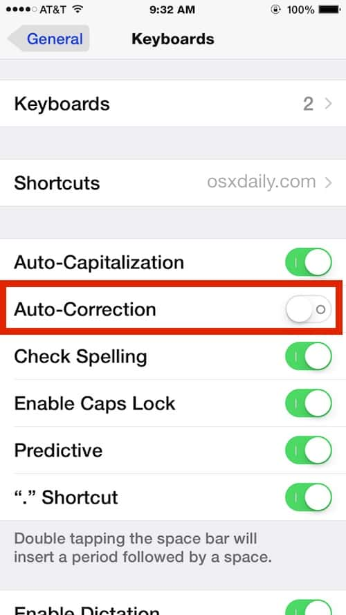 Keyboard Tips: turn off autocorrect on iPhone