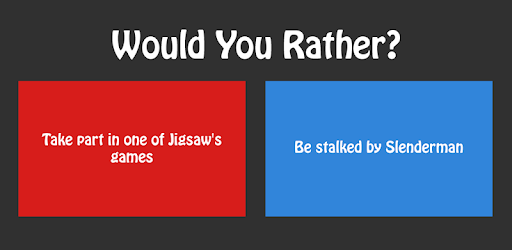 Would You Rather: games to play over the phone